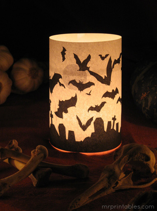 Halloween Printables candle wrap 2