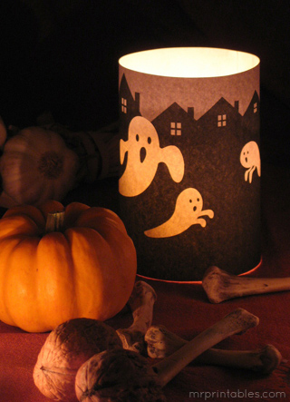 Halloween Printables candle wrap 1