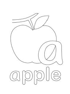 alphabet coloring pages lowercase a