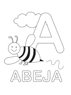spanish alphabet coloring page a