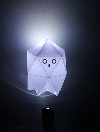 paper ghost with LED torch