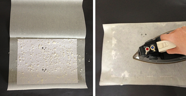 How to make wax paper for translucent ghost boxes