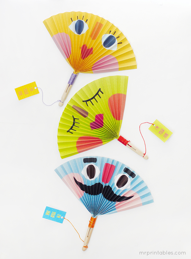 Summer Crafts – Making Paper Fans