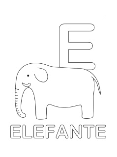 spanish alphabet coloring page e