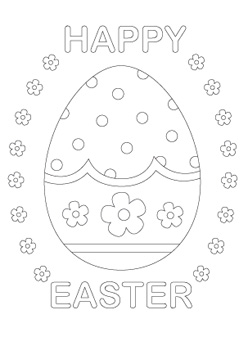 Easter Coloring Pages On Make The Most Colorful And Beautiful Egg To Celebrate