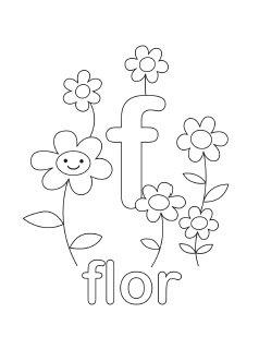 alphabet coloring pages letter f