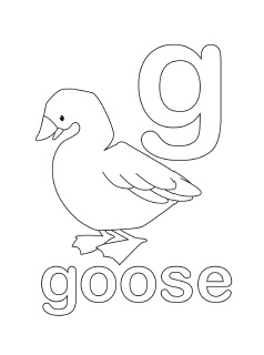 alphabet coloring pages letter g