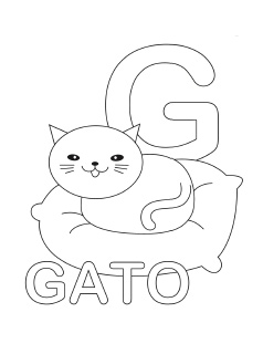 spanish alphabet coloring page g