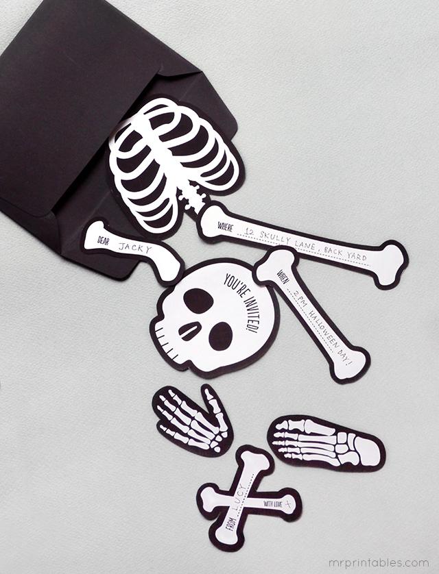 Invitation Bag O 'Bones Halloween