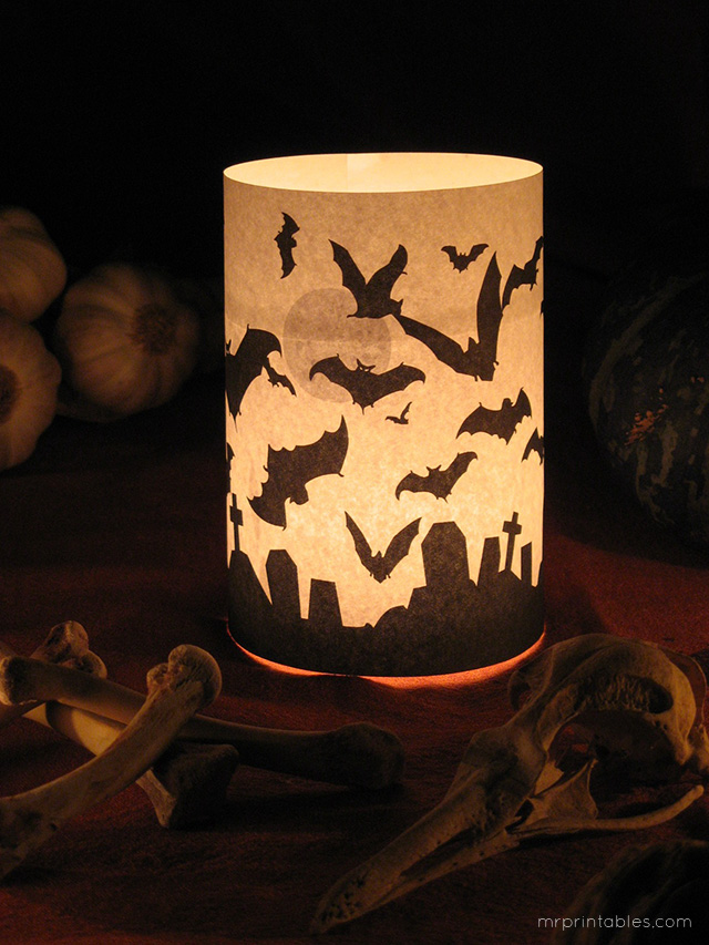 Halloween Candle Holders Mr Printables