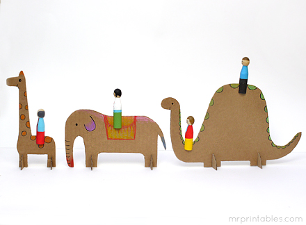 homemade toys peg dolls
