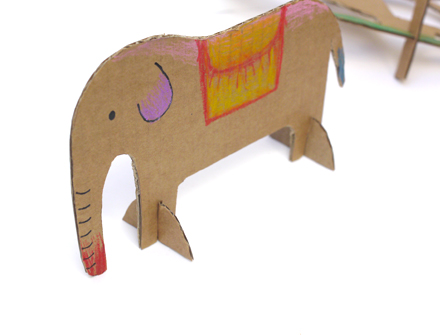 how to make cardboard animals