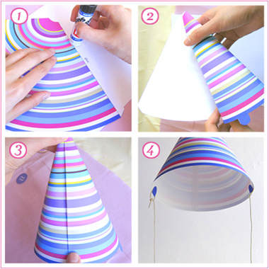 how to make the party hat