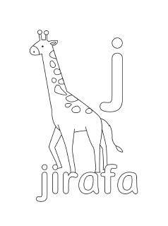 alphabet coloring pages letter j