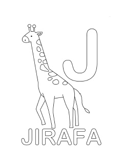 spanish alphabet coloring page j