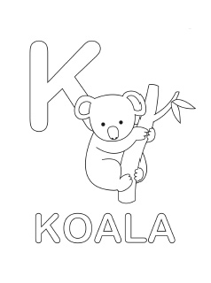spanish alphabet coloring page k