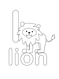 alphabet coloring pages letter l