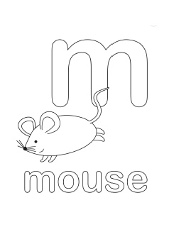 alphabet coloring pages letter m