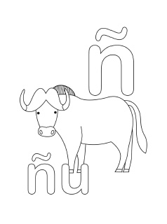 alphabet coloring pages letter n