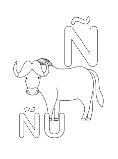 spanish alphabet coloring page n