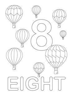 number coloring pages 8