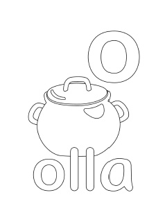 alphabet coloring pages letter o