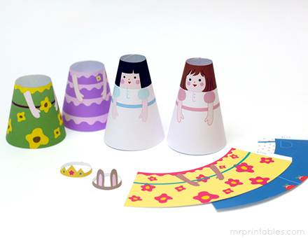 how to make 3d paper dolls