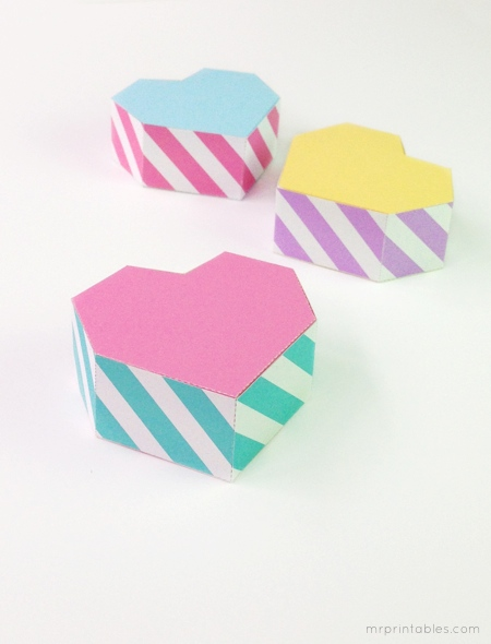 printable Valentine's favor box