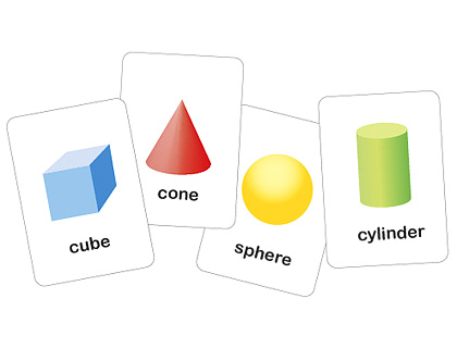 Dimensional Printable Shapes Flash Cards