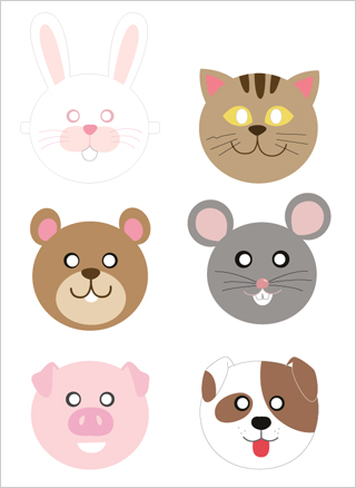 free printable animal masks