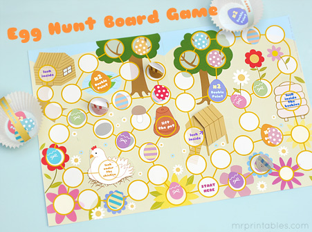 Easter Egg Hunt Board Game
