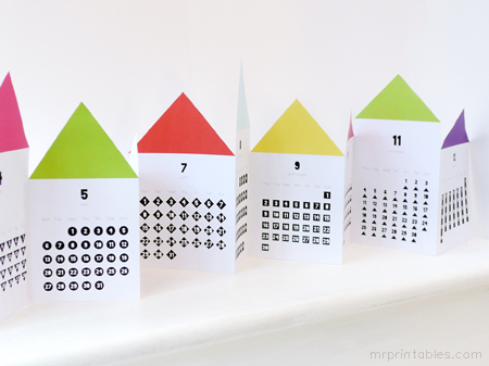 printable monthly calendar for kids