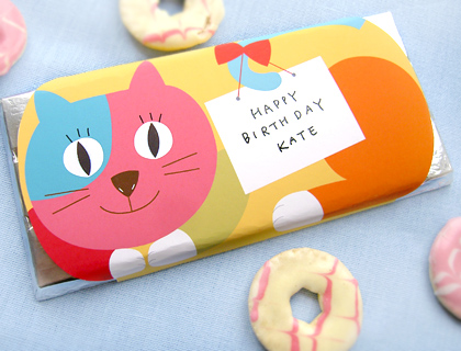 free printable candy bar wrapper cat