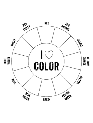 Sizzling image in color wheel printable