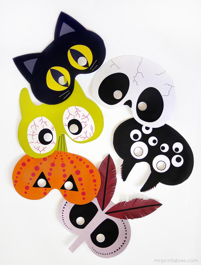 masques de Halloween imprimables