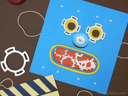 free printable masks robot