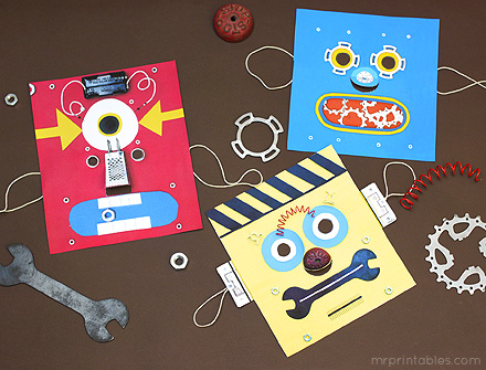 printable masks robot