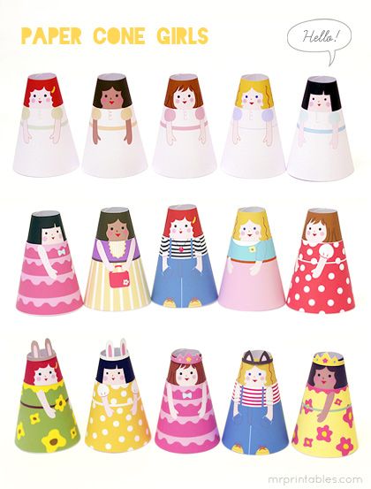 Each set comes with 2 cone girls with 4 different outfits, all set for ...