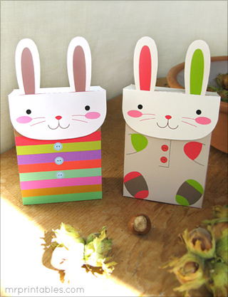 free printable party favors bunny bag 2