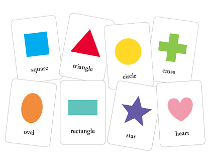free printable shape flash cards