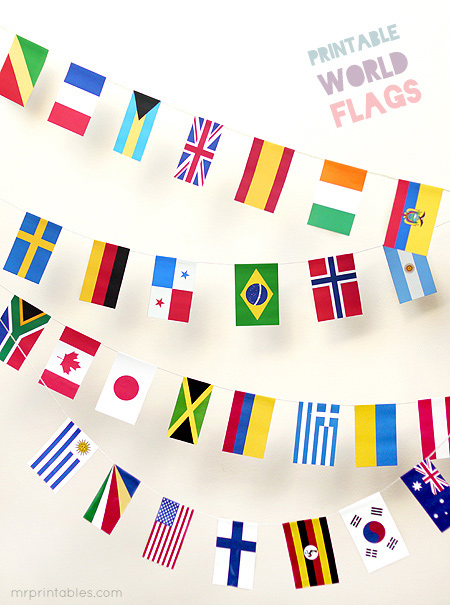 printable world flags