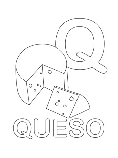 spanish alphabet coloring page q