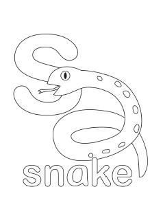 alphabet coloring pages letter s