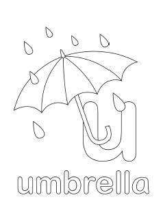 alphabet coloring pages letter u