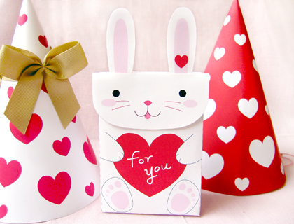 free printable party favors bunny bag 1