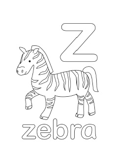 alphabet coloring pages letter z