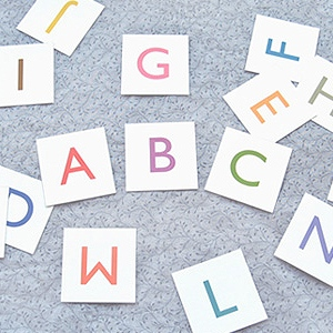 Basic Alphabet Cards
