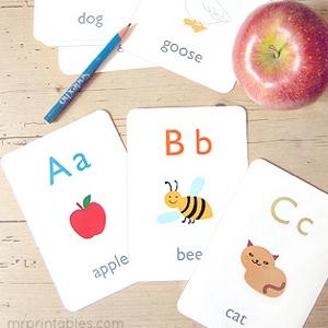 Alphabet Flash Cards Mr Printables