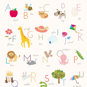 Tactueux image within alphabet poster printable