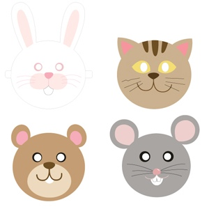 graphic relating to Printable Masks for Kids called Printable Masks for Little ones - Mr Printables
